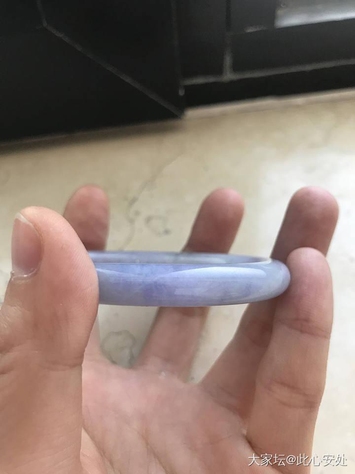 满紫紫罗兰圆条贵妃翡翠镯,小四价佛出_翡翠