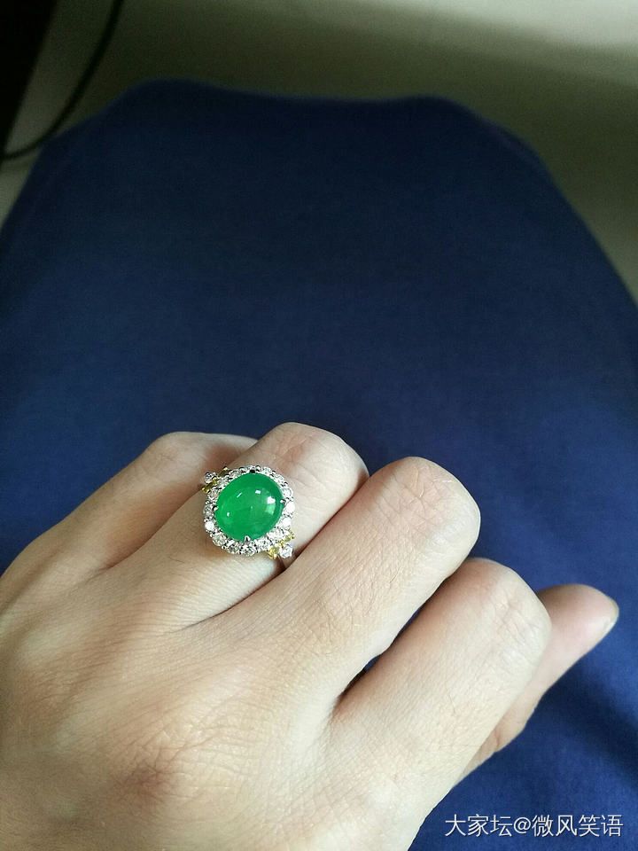 小源源家的戒指,好喜欢_戒指翡翠