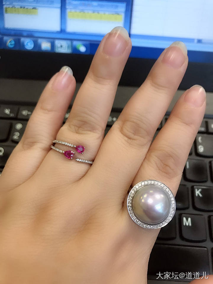 分享个戒指款式_戒指彩色宝石