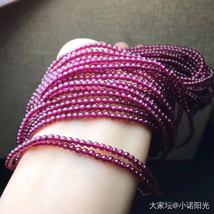 凯斯羽珠宝紫牙乌石榴石手串项链巴西天然正品养颜支持淘宝包邮_彩色宝石