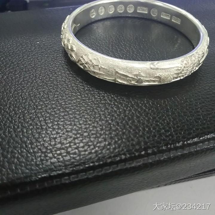 九色鹿_手镯银