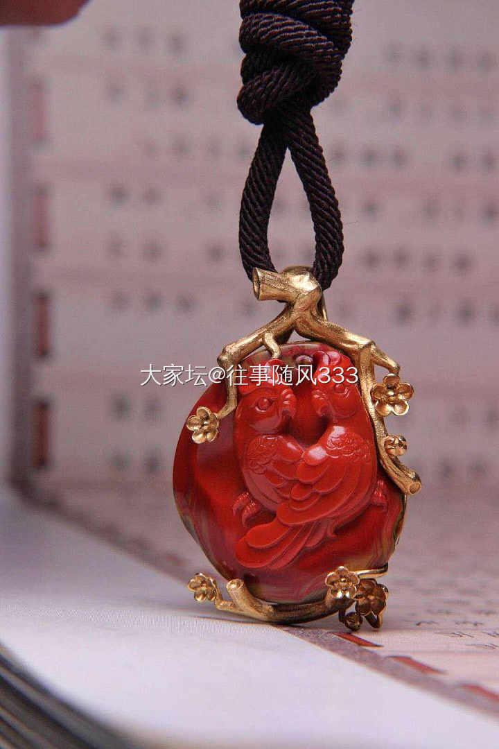 处女贴,转精镶南红雕件吊坠,买到赚到_传统玉石