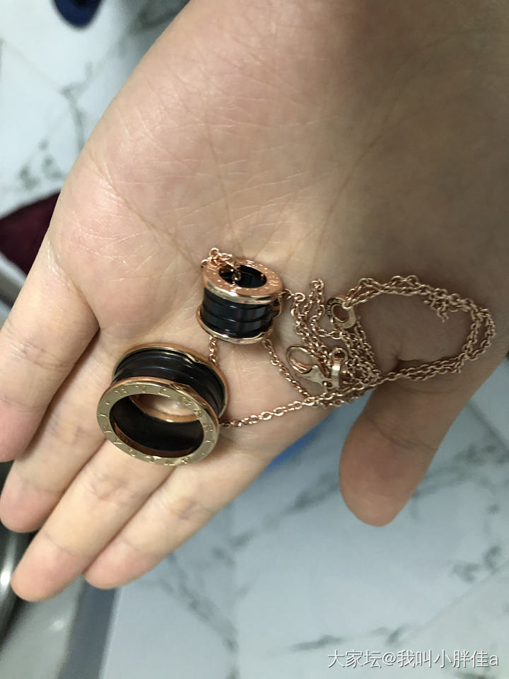 打包出极光淡水珍珠和925版宝格丽项链戒指_首饰