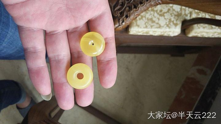 蜜蜡小环,制作过程中_打磨琥珀蜜蜡