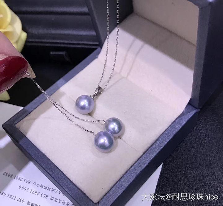 团一波真多麻色系akoya海珠_有机宝石