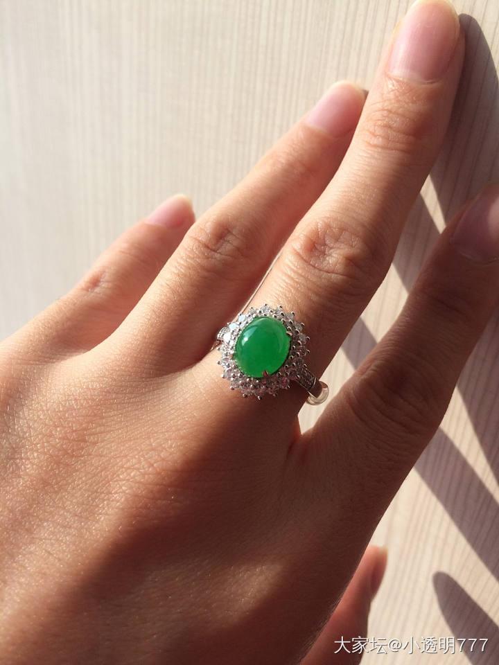 阳绿翡翠戒指 1.2ct莫桑比克红宝石吊坠_翡翠