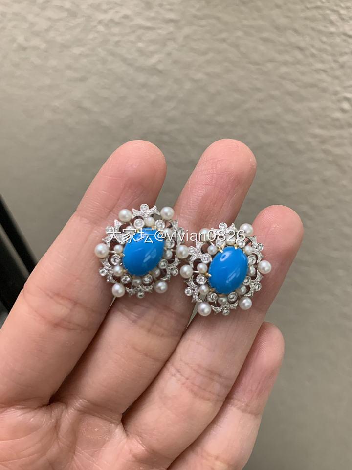 最近乱入的几样东西 戒指 耳钉 手链_蓝宝石尖晶石松石首饰