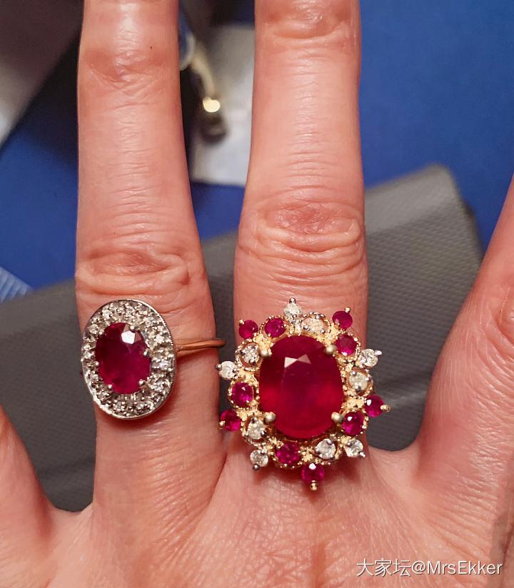 维多利亚时期的红宝戒指._红宝石古董首饰