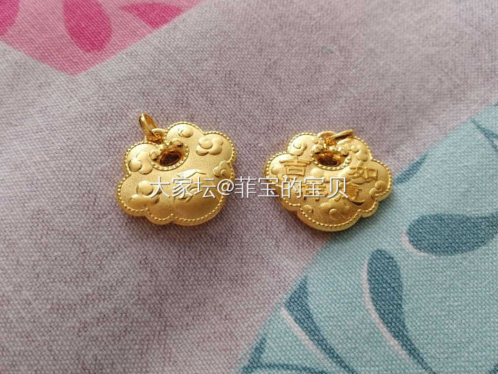 大福鸡宝宝锁4.46g老凤祥项链5.30g_金