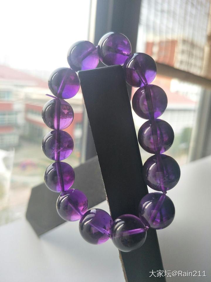 秀一下我的紫水晶_紫水晶珠串