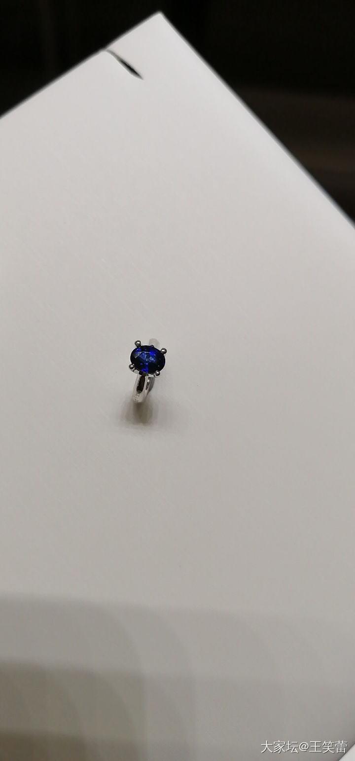 三十分蓝宝石小铂金吊坠2400贵不 百搭的精致吊坠_吊坠蓝宝石