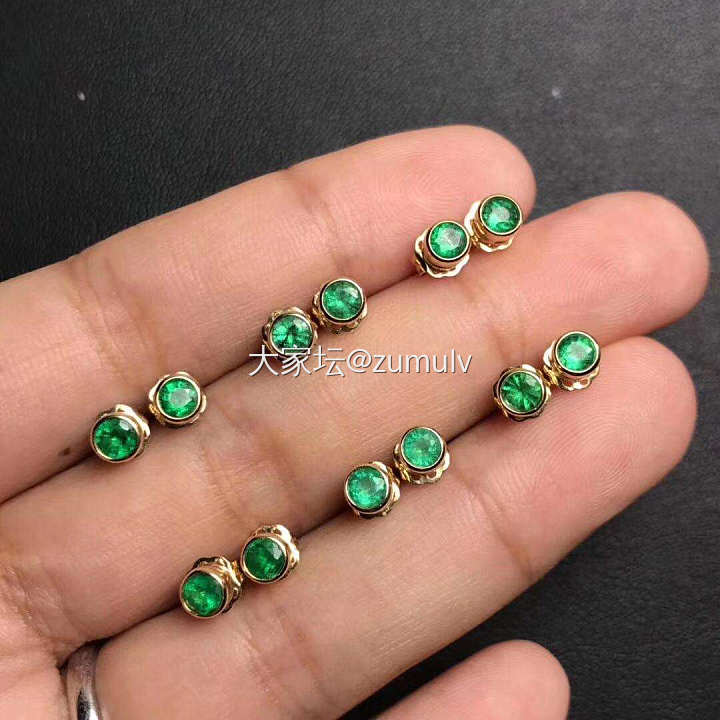 祖母绿耳钉,展会期(深圳展12-16号)特价999元一对,数量不多_名贵宝石