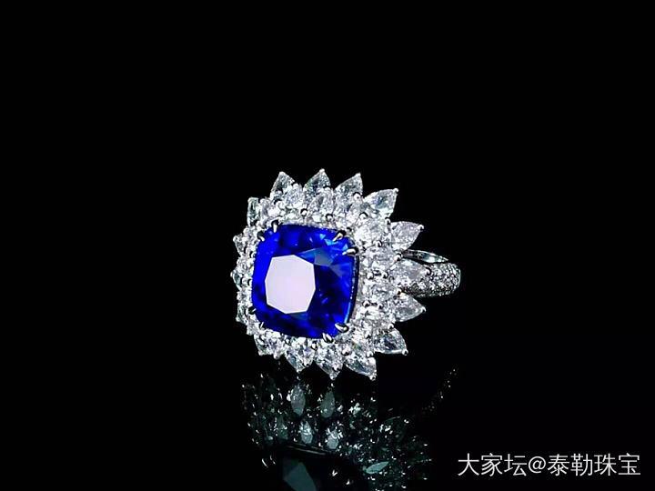#泰勒彩宝#10.09ct无烧皇家蓝戒指_名贵宝石泰勒珠宝