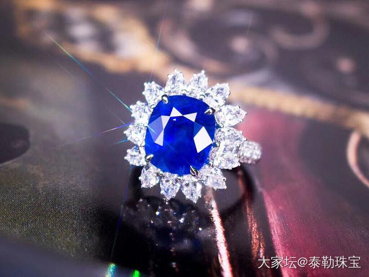 #泰勒彩宝#10.6ct无烧缅甸蓝宝石戒指_名贵宝石泰勒珠宝