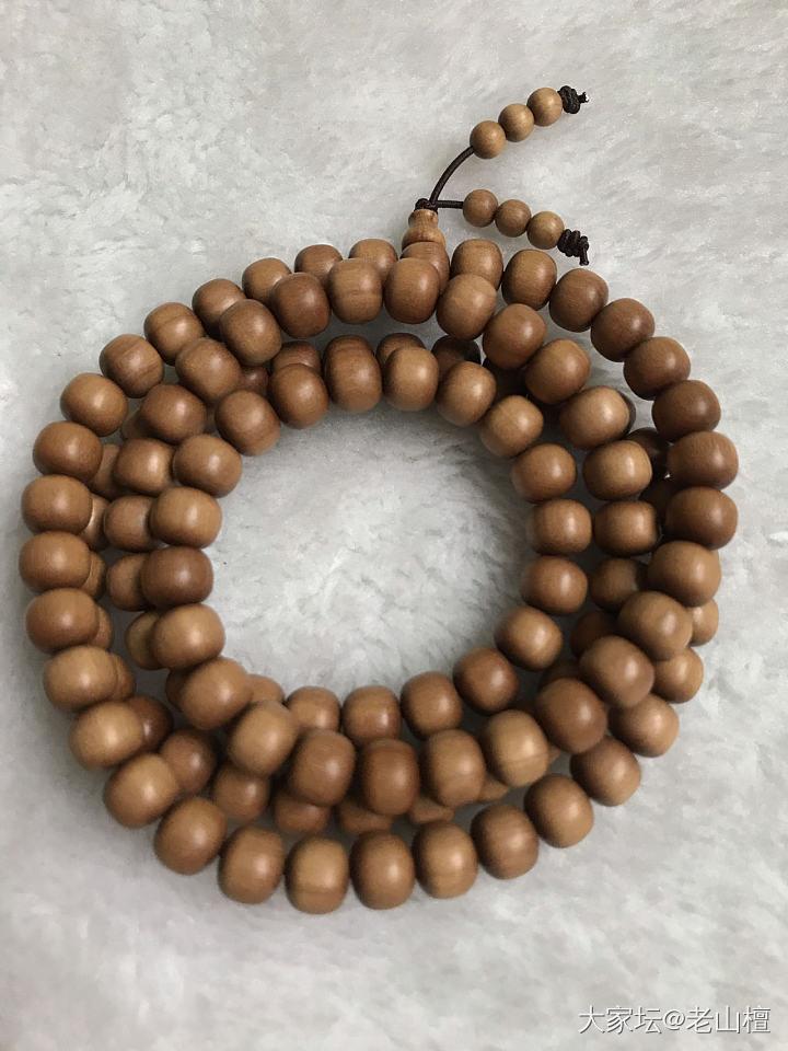 老山檀香老型珠7*8,精选百年老料,粒粒纯手工打造。_老山檀珠串