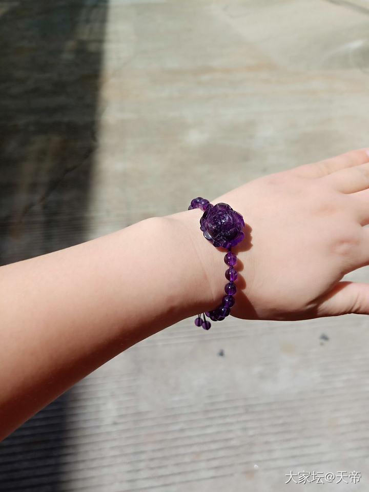 在壇友那收的,很美,喜歡!??_珠串紫水晶