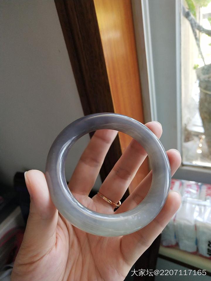 冰底烟紫手镯  51轮胎/55胖圆条_和田玉