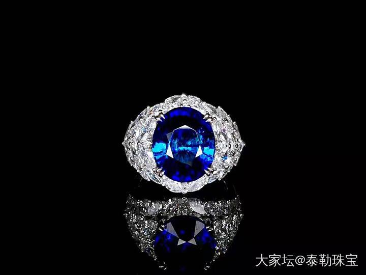 #泰勒彩寶#8.11ct無燒皇家藍戒指_戒指藍寶石泰勒珠寶