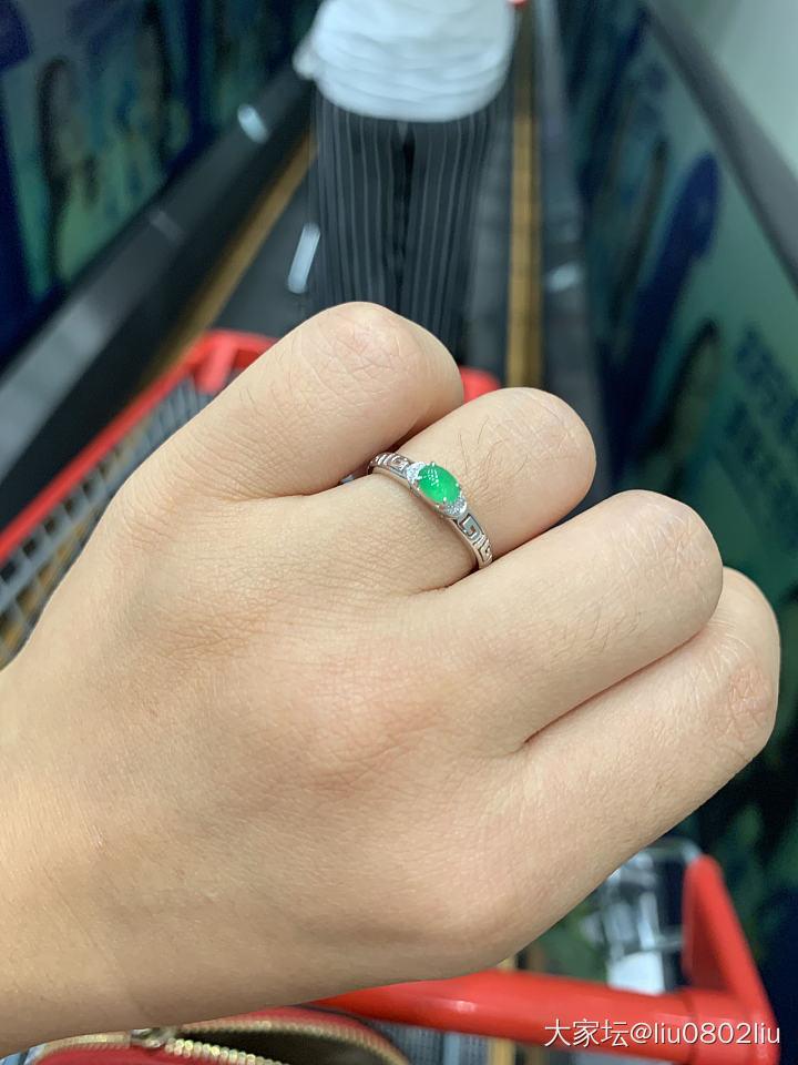 想要生活過的去,就要來點綠_戒指翡翠