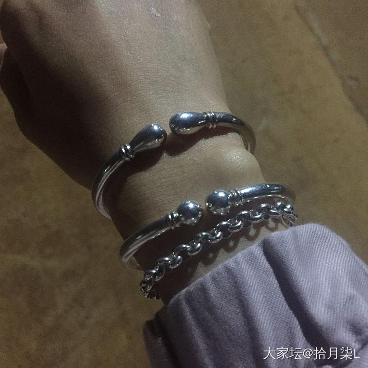 珍珠链和小拳头_手链手镯银