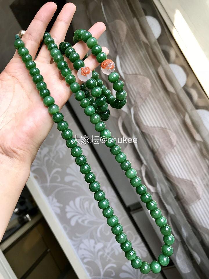 出自己收藏的碧玉项链,碧玉手串,糖心玛瑙手串_传统玉石