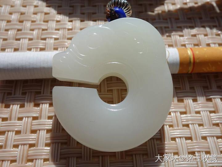 铭玉收藏---脂白玉猪龙挂件1250元_和田玉