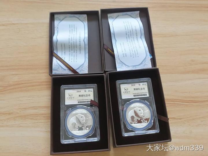 小金匠轨道兰或70周年建国币10个或20个+2016普制熊猫银币2个原价打包出_银