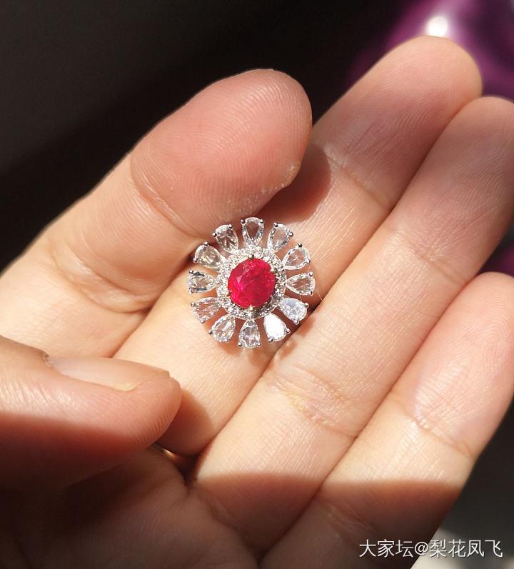 看上這顆紅寶了,緬甸鴿血紅_戒指紅寶石