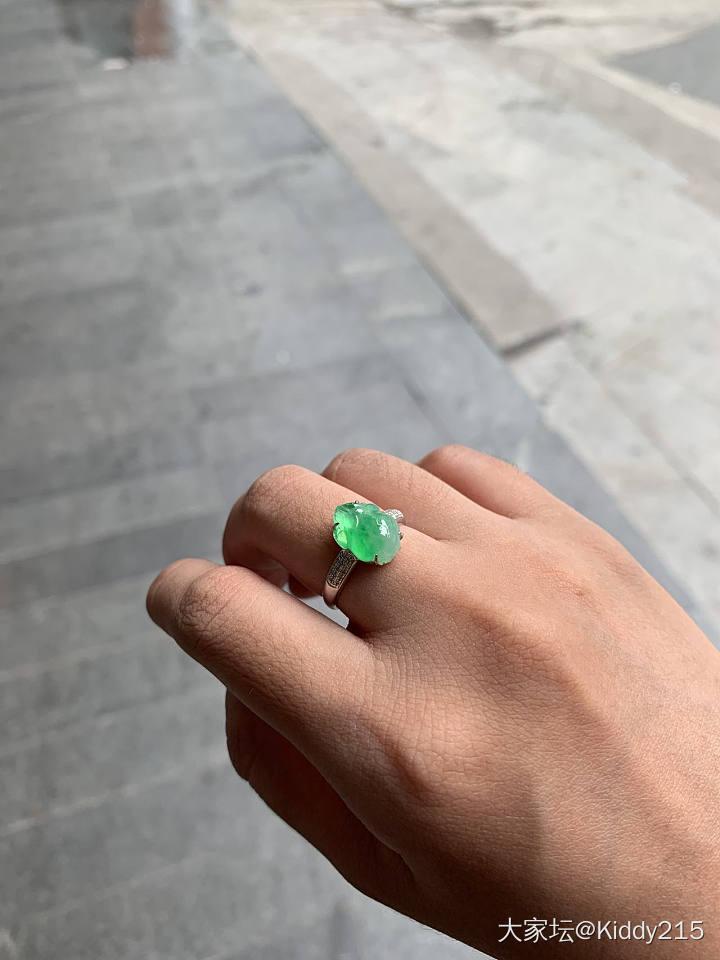 冰阳绿貔貅金蟾戒指_万博手机iOS