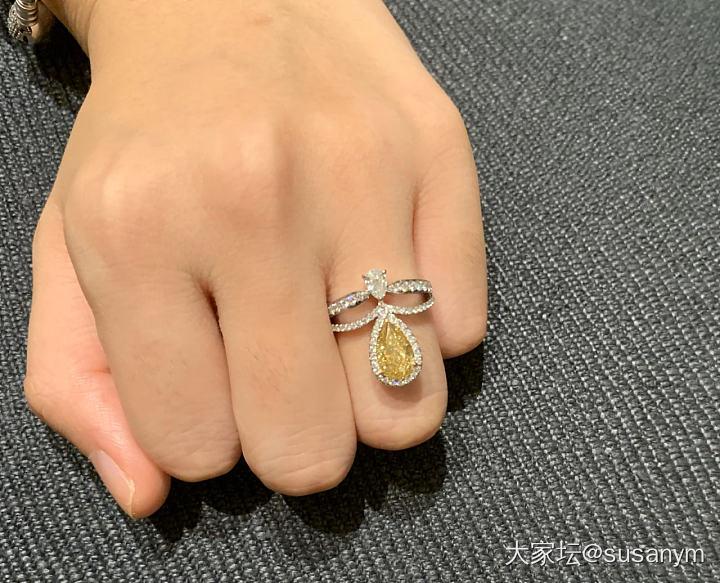 秀秀我的黄钻戒指_戒指彩钻