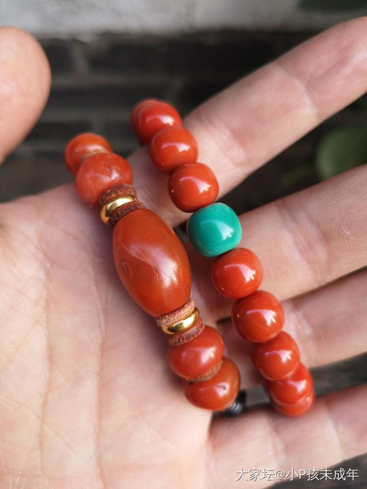 家里剩的珠子DIY一小串儿_南红串珠玉髓玛瑙