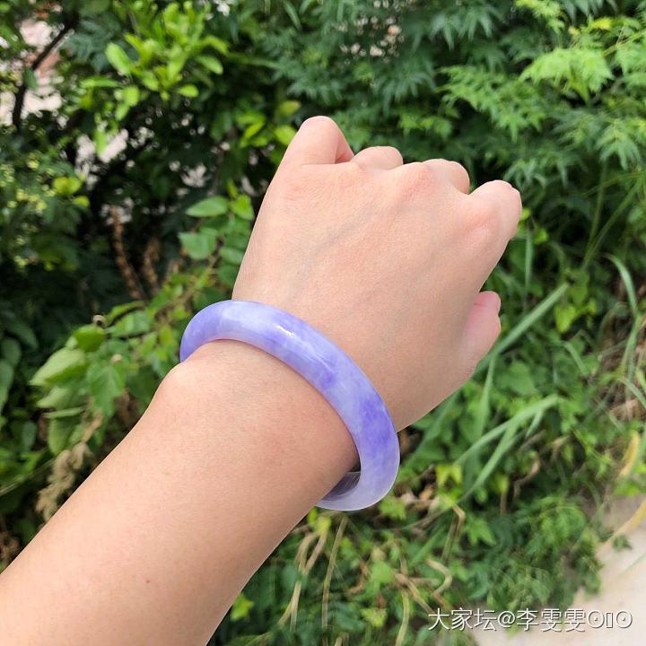 最近真的好草浓紫色啊 太美了_手镯翡翠