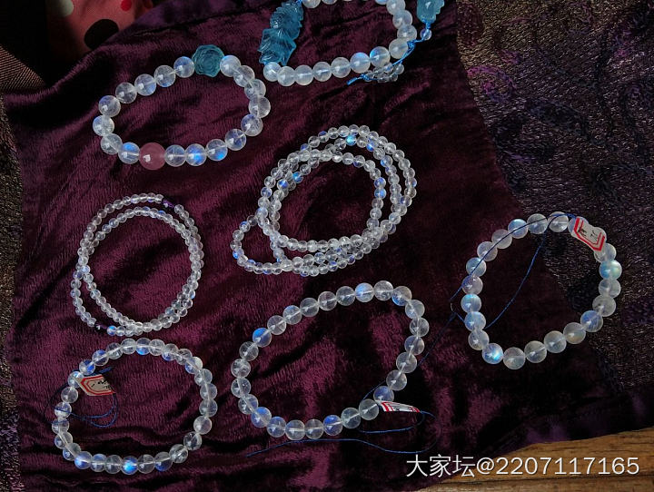 月光 手链 吊坠_彩色宝石