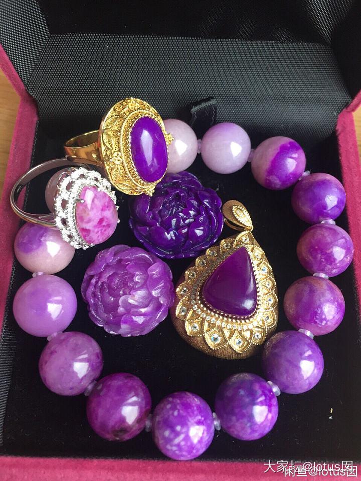 舒俱来 牡丹花 皇家紫_彩色宝石