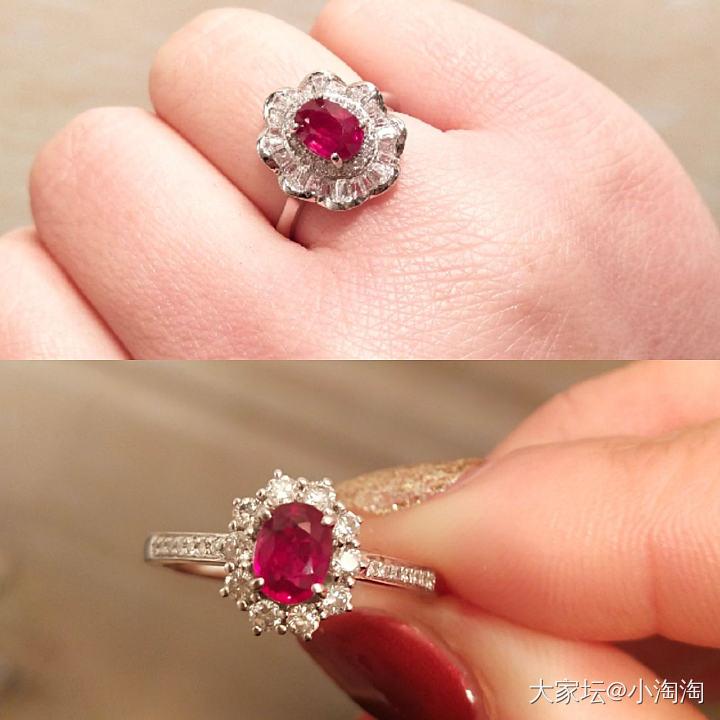 两个红宝石戒指,你喜欢哪个。_戒指名贵宝石