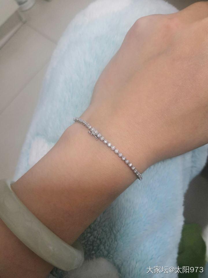 其实十分的钻石手链还是有存在感的_手链钻石