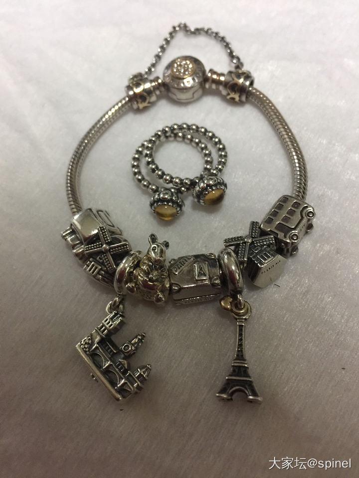 近期戴的潘多拉 托貝斯_潘多拉925銀手鏈
