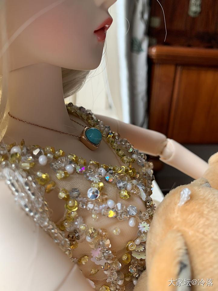 蓝松石项链 蓝色小丸_传统玉石