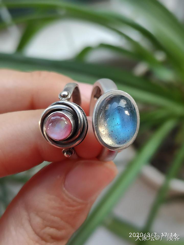 【亏出】拉长石戒指,月长石戒指黑月光灰月光_彩色宝石翡翠