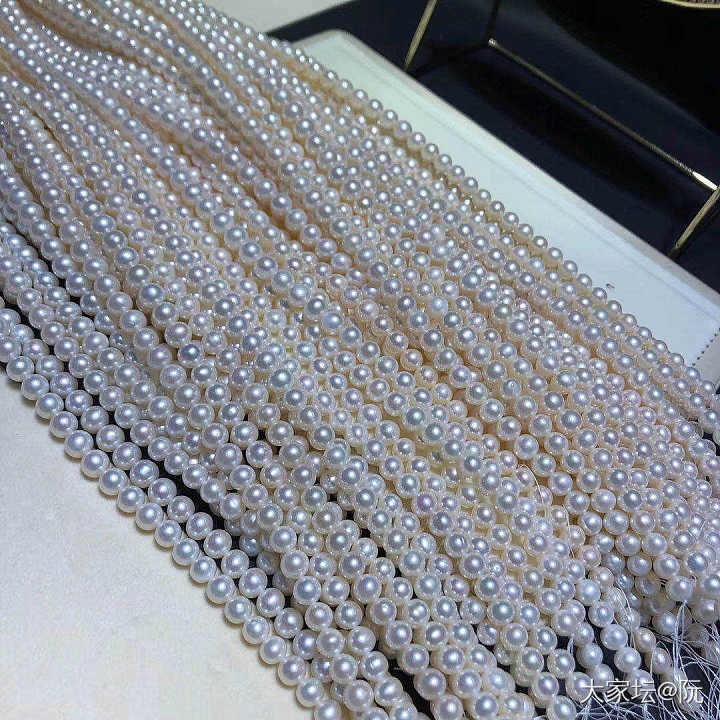 正圆微微瑕疵超强光淡水珍珠项链 日常佩戴送礼首选_有机宝石