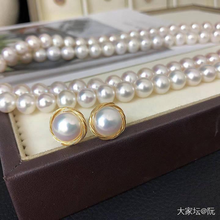 母亲节套装上新了哦 8.5-9.5mm送礼佳品 可当见面礼_有机宝石