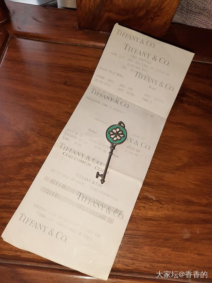TIFFANY 珐琅钥匙 专柜有票_首饰