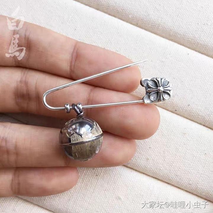 带定位珠的万用别针_银