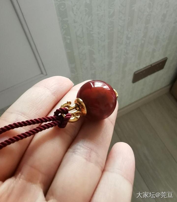 小A家 18k 火焰南红珠_传统玉石