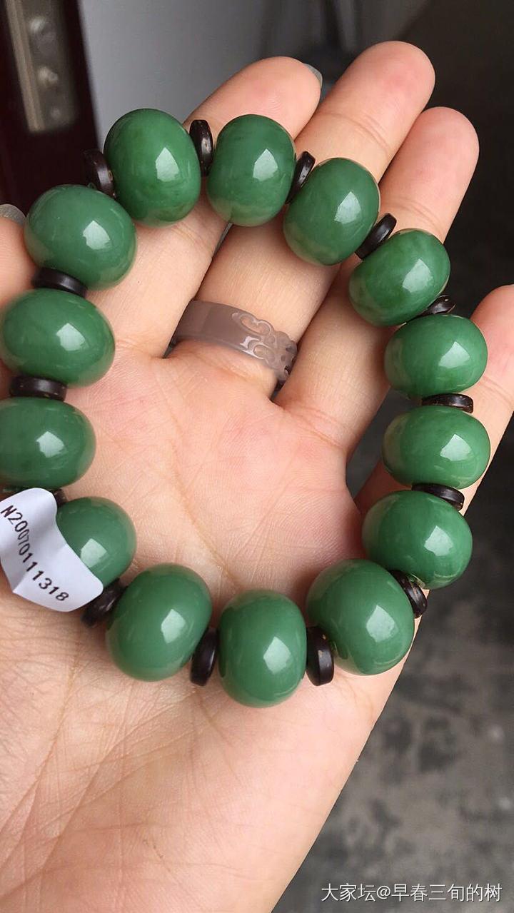 碧玉苹果珠串属于哪种绿呀?_和田玉