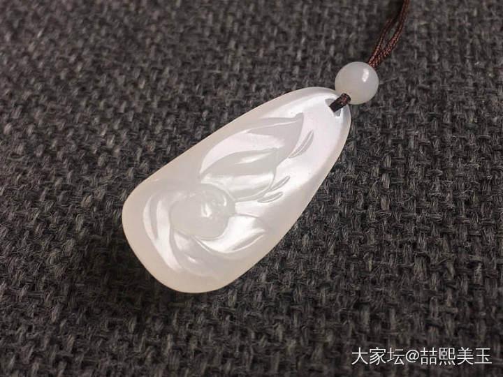 【喆熙美玉】5克细白无结构籽玉荷花_和田玉