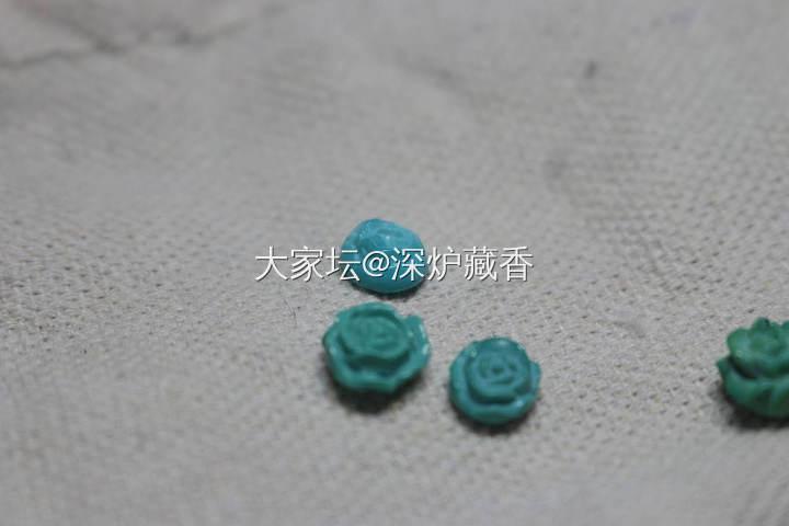 绿松石小花。_传统玉石