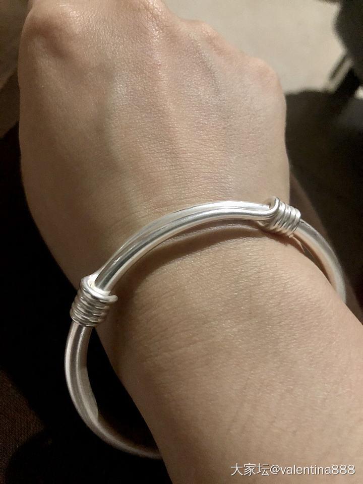 晒晒扁推圆_手镯首饰银
