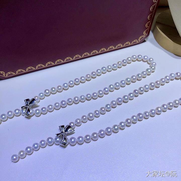 蝴蝶结多变珍珠项链_有机宝石