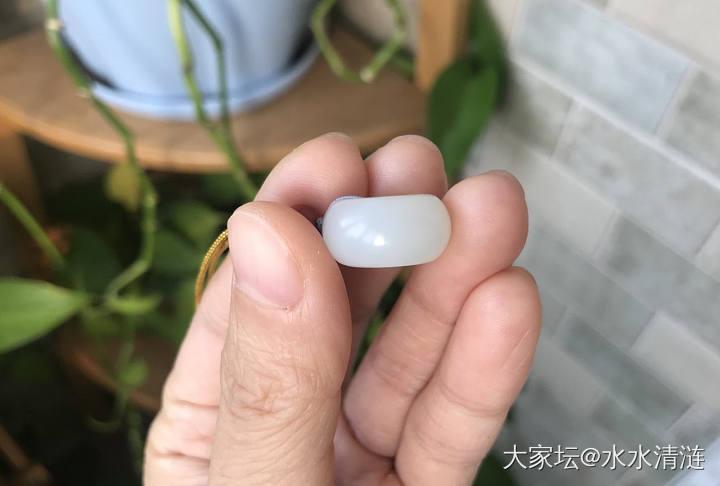 一级白且末厚装平安扣,白圆胖扣_和田玉
